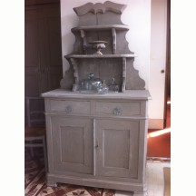 French antique Buffet St Hubert XIX grey colour