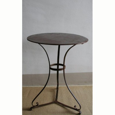 French antique garden iron table