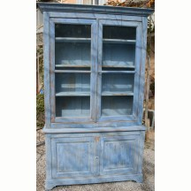 French antique buffet blue